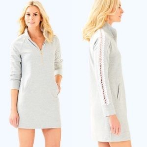 Lilly Pulitzer Skipper Solid Popover Dress Gray